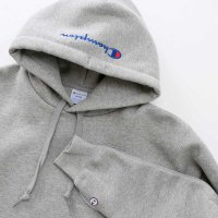 Champion BIG LOGO PULLOVER HOODED SWEATSHIRT[GRAY] - C3-L119