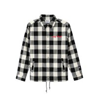 Champion GINGHAM CHECK COACH JACKET[WHT/BLK] - C3-L603