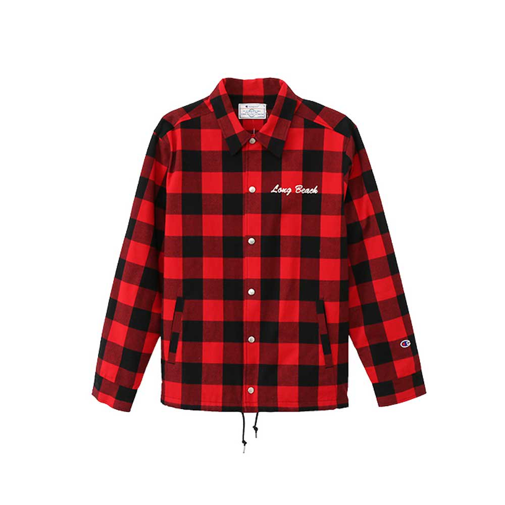 Champion GINGHAM CHECK COACH JACKET[RED/BLK] - C3-L603