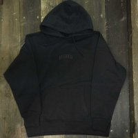 RUGGED SMALL ARCH SUPER HEVY WEIGHT HOODY[BLACK/BLACK]