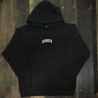 RUGGED SMALL ARCH SUPER HEVY WEIGHT HOODY[BLACK/WHITE]