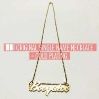 ネームネックレス シングル/ゴールドメッキ [SINGLE/GOLD PLATING] - NAME NECKLACE