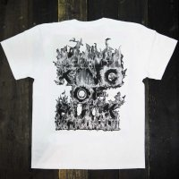 KOB Clothing RAISE A REVOLUTION T-SHIRTS[WHITE/BLACK FIRE]