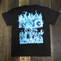 KOB Clothing RAISE A REVOLUTION T-SHIRTS[BLACK/BLUE FIRE]