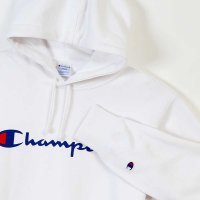 Champion LOGO PRINT PULLOVER HOODED SWEATSHIRT[WHITE] - C3-J117