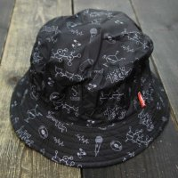 PANIC x SEDUCE HIP HOP DNA REVERSIBLE HAT[BLACK]