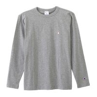 Champion LONG SLEEVE T-SHIRT[GREY] - C3-J424
