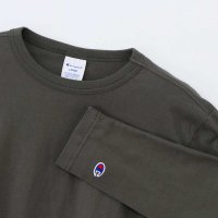 Champion LONG SLEEVE T-SHIRT[ARMY GREEN] - C3-J424