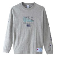 Champion LONG SLEEVE T-SHIRT[GREY] - C3-M413