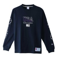 Champion LONG SLEEVE T-SHIRT[NAVY] - C3-M413