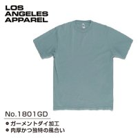 LOS ANGELES APPAREL 1801GD GARMENT DYE CREW NECK T-Shirts - ロスアパ ガーメントダイ Tシャツ