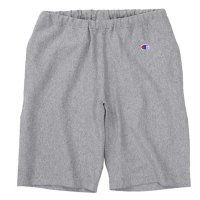 [SUPER SALE/50%OFF]Champion REVERSE WEAVE SWEAT SHORT PANTS[OX GRAY] - C3-D526
