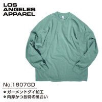 LOS ANGELES APPAREL 1807GD Grmnt Dye Crew Neck L/S Tee
