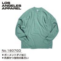 LOS ANGELES APPAREL 1807GD GARMENT DYE CREW NECK L/S T-Shirts - ロサンゼルス アパレル ガーメント ダイ クルーネック ロング Tシャツ