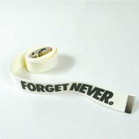 FORGET NEVER CLASSIC LOGO GACHA BELT[WHITE]  <img class='new_mark_img2' src='//img.shop-pro.jp/img/new/icons5.gif' style='border:none;display:inline;margin:0px;padding:0px;width:auto;' />