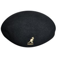 KANGOL WOOL 504  HUNTING CAP [BLACK/GOLD] - 187169001