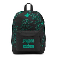JANSPORT THE GONZ FX BACKPACK[BLACK/GREEN/5D4]