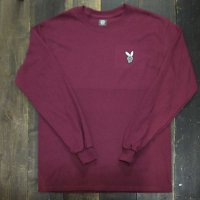 DC CLOTHING DC BOY L/S T-SHIRTS[MAROON/W-DCBOY]