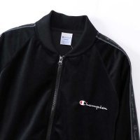 [SUPER SALE/半額 50%OFF]Champion VELOR FULL ZIP JACKET[BLACK] - C3-N609<img class='new_mark_img2' src='https://img.shop-pro.jp/img/new/icons34.gif' style='border:none;display:inline;margin:0px;padding:0px;width:auto;' />