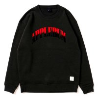 APPLEBUM GRADATION LOGO CREW SWEAT[BLACK] - 1820408