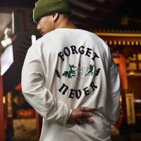 FORGET NEVER ANIMAL CYPHER L/S T-SHIRT[WHITE] <img class='new_mark_img2' src='//img.shop-pro.jp/img/new/icons5.gif' style='border:none;display:inline;margin:0px;padding:0px;width:auto;' />