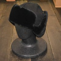 [SUPER SALE 20%OFF]KANGOL WOOL USHANKA HAT[BLACK]- 188169201