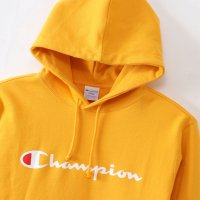 Champion LOGO PRINT PULLOVER HOODED SWEATSHIRT[YELLOW] - C3-J117