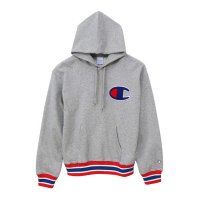 Champion PULLOVER PARKA[GRAY/RED] - C3-K106