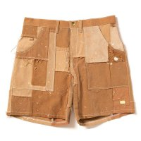 [SPECIAL SALE PRICE]PLAY for APPLEBUM PATCHWORK RE/FABRIC DUCK SHORTS [BEIGE] -  1810817
