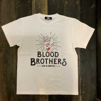 KOB Clothing BLOOD BROTHERS T-SHIRTS[WHITE]