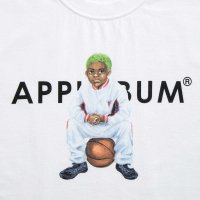APPLEBUM WORM BOY (HOME) T-SHIRT[WHITE] - 1911101<img class='new_mark_img2' src='//img.shop-pro.jp/img/new/icons5.gif' style='border:none;display:inline;margin:0px;padding:0px;width:auto;' />