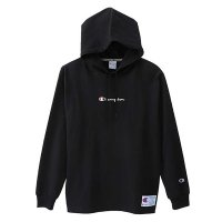 Champion LONG SLEEVE HOOD SHIRT[BLACK] - C3-M414