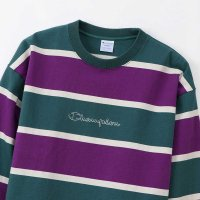 Champion LONG SLEEVE BORDER SHIRT[DK GREEN] - C3-Q410<img class='new_mark_img2' src='//img.shop-pro.jp/img/new/icons5.gif' style='border:none;display:inline;margin:0px;padding:0px;width:auto;' />