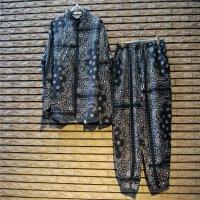 ペイズリーシャツ/セットアップ Black/レディース 【限定3セット】【衣装用サンプルセール品】