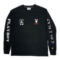 MARK GONZALES x PLAYBOY L/S T-SHIRTS[BLACK] - 2G7-5320