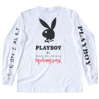 MARK GONZALES x PLAYBOY L/S T-SHIRTS[WHITE] - 2G7-5320