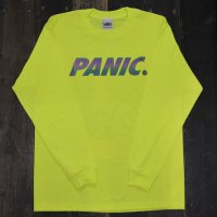 PANIC RAINBOW REFLECTIVE PANIC LOGO LONG SLEEVE T-SHIRT [NEON YELLOW]