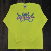 PANIC RAINBOW REFLECTIVE BASIC LOGO LONG SLEEVE T-SHIRT [NEON YELLOW]