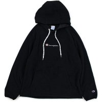 Champion LOGO PULLOVER FLEECE JACKET[BLACK] - C3-N611