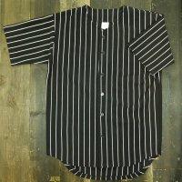 BASEBALL JERSEY SHIRTS[BLACK/WHITE STRIPE] - ベースボールシャツ プリント対応