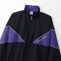 Champion NYLON FULL ZIP JACKET[BLACK/PURPLE] - C3-Q606