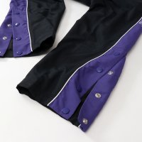 Champion NYLON LONG PANTS[BLACK/PURPLE] - C3-Q209