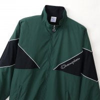 Champion NYLON FULL ZIP JACKET[DK GREEN/BLACK] - C3-Q606