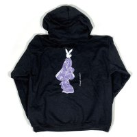 FORGET NEVER  BUNNY LOOKING BACK HOODIE[BLK]