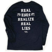 FORGET NEVER REAL EYES L/S TEE[BLACK]
