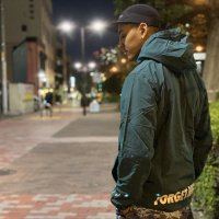 FORGETNEVER NYLON ANORAK HOODIE JACKET[EMERALD GREEN]