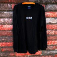 RUGGED SMALL ARCH LOGO L/S T-SHIRTS [BLACK]【SALE除外品】