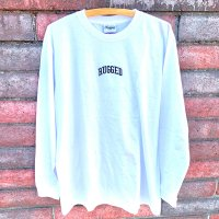 RUGGED SMALL ARCH LOGO L/S T-SHIRTS [WHITE]【SALE除外品】