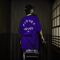 FORGET NEVER KATAKANA LOGO S/S T-SHIRT[PURPLE]