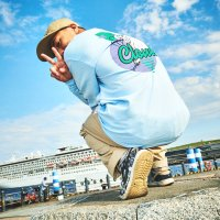 FORGET NEVER CLOUD9 L/S TEE【LIGHT BLUE】
